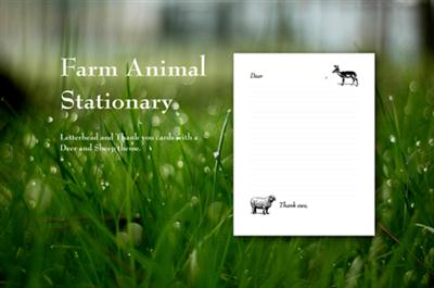 Farm Animal Stationery