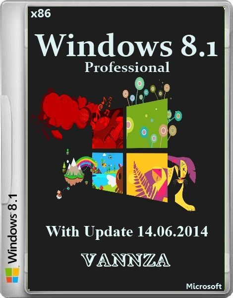 Windows 8.1 Pro With Update Vannza 14.06.2014 (x86/RUS/2014)