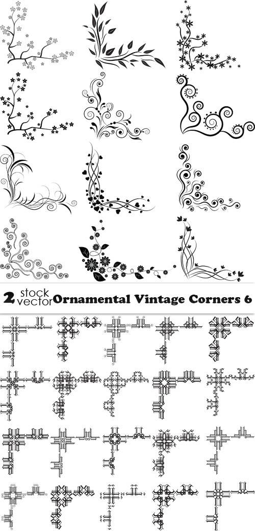 Vectors - Ornamental Vintage Corners 6