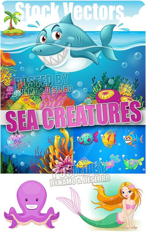 Морские существа - Векторный клипарт