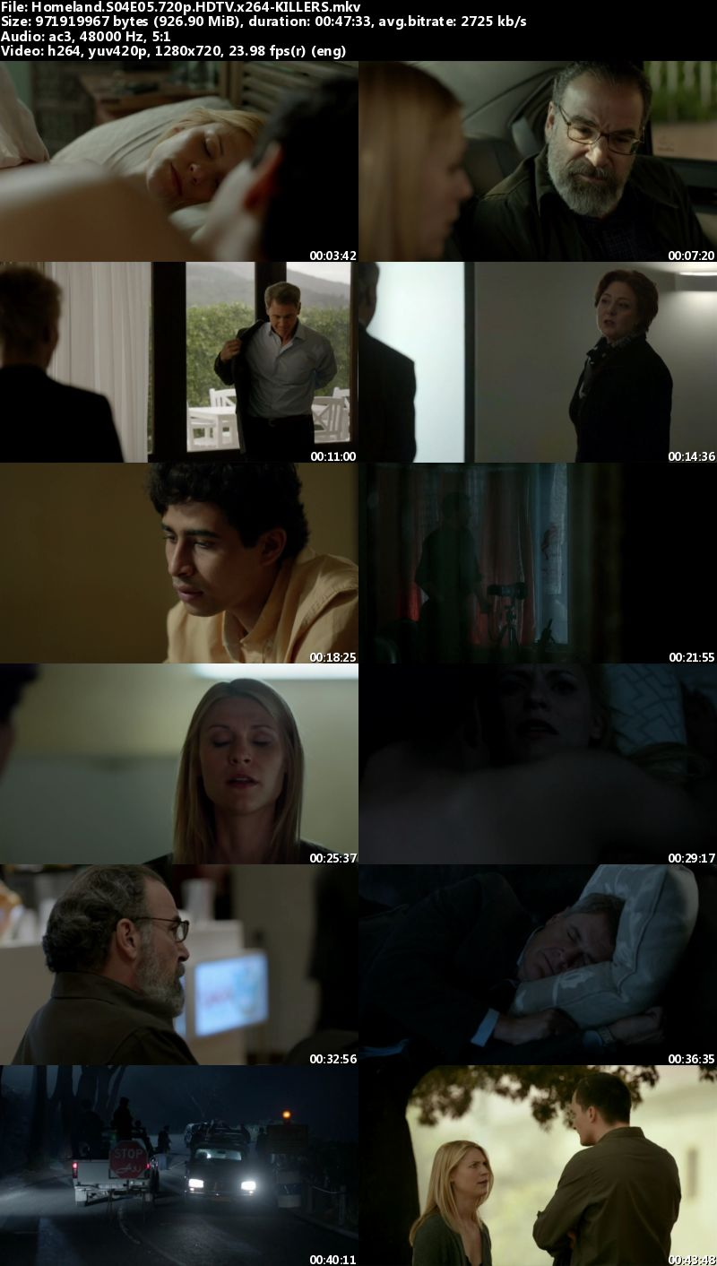 Homeland S04E05 720p HDTV x264-KILLERS