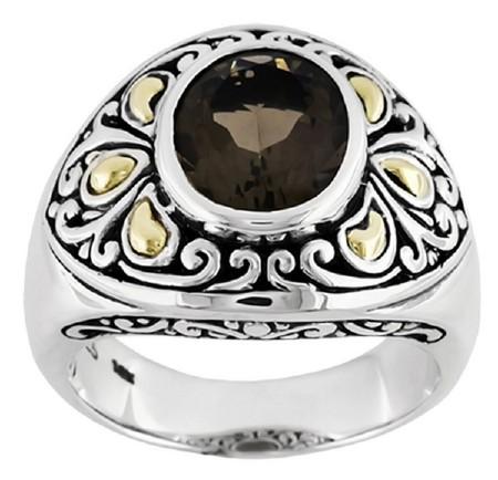 Ювелирные украшения: Кольца и перстни украшенные черным сапфиром (подборка изображений)
