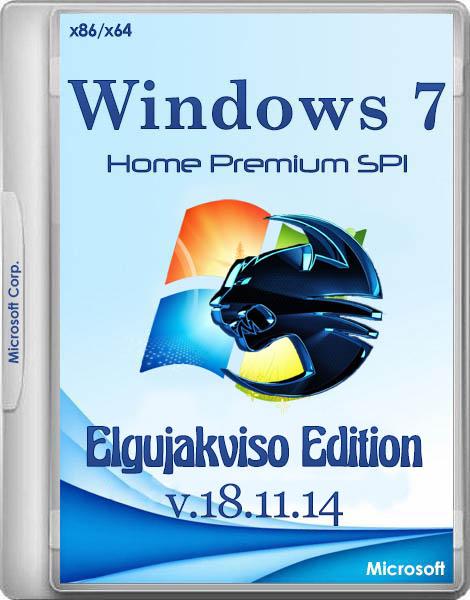 Windows 7 Home Premium SP1 Elgujakviso Edition v.18.11.14 (x86/x64/RUS/2014)