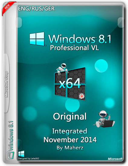 Windows 8.1 Professional VL x64 Integrated November 2014 By Maherz (ENG/RUS/GER)