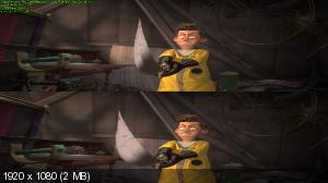 Кот Гром и заколдованный дом 3Д / The House of Magic 3D  (Лицензия by Ash61) Вертикальная анаморфная