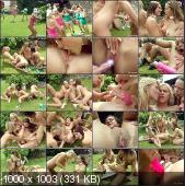 ClubSevenTeen - Yasmin, Carola, Tara, Alexa, Chanel, Debbie - A Lesbian Teenage Groupsex Party Outdoor [SD]