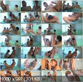 CollegeFuckParties - Aspen, Kveta, Taya - Naked Girls Party In A Sauna Part 4 [HD 720p]