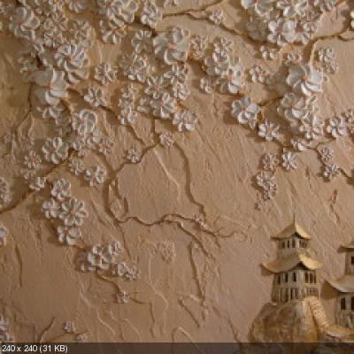 Лепка из гипса своими руками на стену