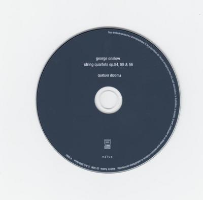 Quatuor Diotima - George Onslow : String Quartets, Opp. 54, 55 & 56 /  2009 Naïve