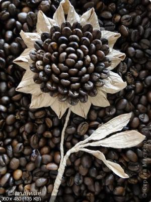 Цветы из кофейных зерен и шпагата – мастер-класс    941601574b15cec23e34d3a09e83dced