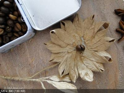 Цветы из кофейных зерен и шпагата – мастер-класс    D0f19475ebe4e34bd5d9c9c598d4e4ef