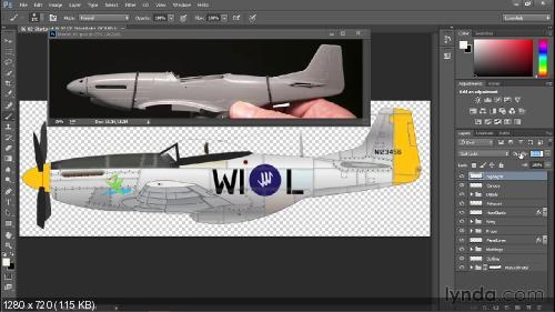 Lynda.com Создание макета самолета с помощью Adobe Illustrator и Photoshop