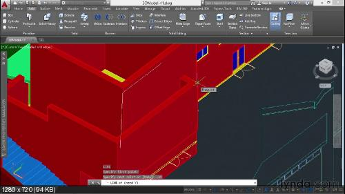 Lynda.com 3D Архитектурное моделирование с AutoCAD