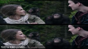 Планета обезьян: Революция 3Д/ Dawn of the Planet of the Apes 3D (by Ash61) Вертикальная анаморфная