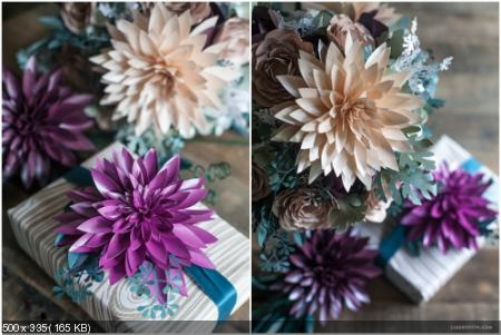 Цветы из дизайнерской бумаги 46bd90a77e15f2c2b6b578108bacf224