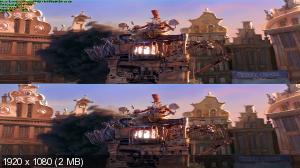 Семейка монстров / The Boxtrolls 3D (2014) BDRip 1080p [6.62 Gb / вертикальная анаморфная стереопара / Лицензия]