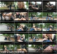 WhoresInPublic - Katja - Horny Nymph Rides Boner On Park Bench! [SD]