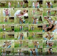 TeenDorf - Iva - Hot Group Sex In The Woods With A Beautiful Slim Sexy Girl [HD 720p]