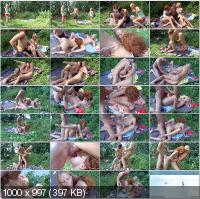 TeensNaturalWay - Valeria, Avina - Sex Picnic On The River With Two Young Sexy Girls [SD]