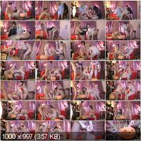 YoungSexParties - Alena, Janna - Halloween Home Sex Party [HD 720p]