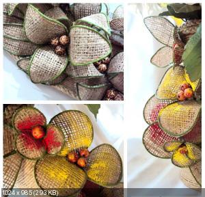 Цветы из мешковины, джута, шпагата 0c6c32f51085785d0f0d6affa2e597d9